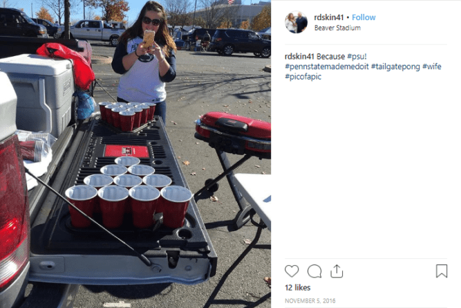 Take your PendaForm Tailgate Pong to the next football tailgate for instant fun.