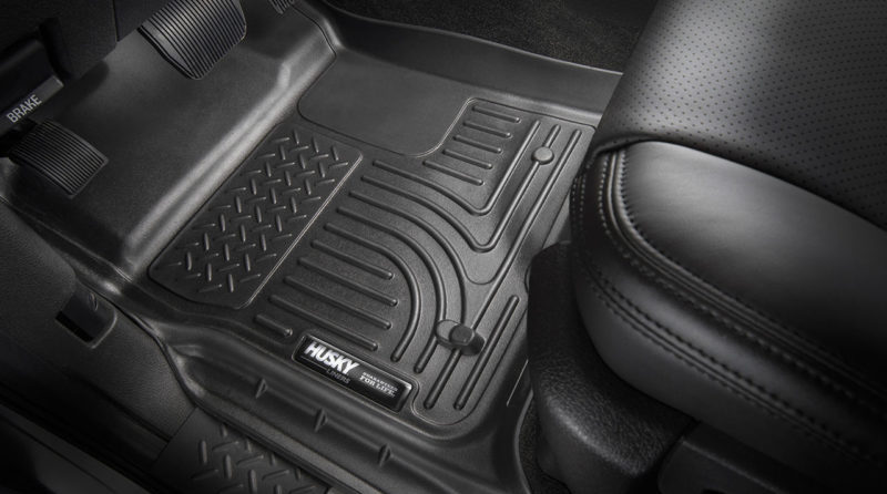 Constructed of tough thermoformed plastic, the WeatherBeater Husky floor liners are soft, flexible, and strong, standing up to whatever happens to be on your shoes.