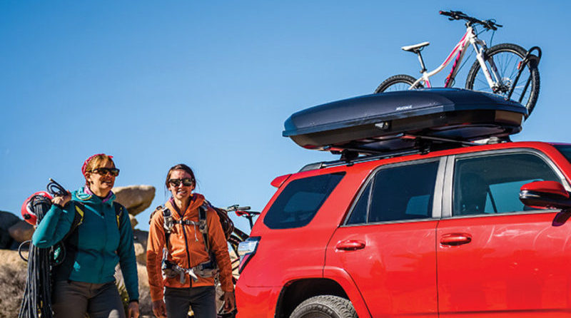 The Yakima OffGrid Cargo Basket includes two accessory bars that serve as gear mounts for other Yakima accessories.