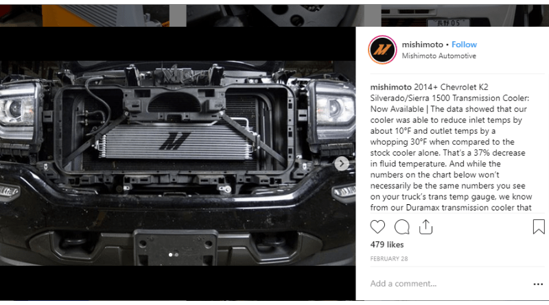 Mishimoto is a quality brand that focuses on delivering an OE-grade fit and finish with the aftermarket convenience of serving a variety of applications, including all your truck performance needs.