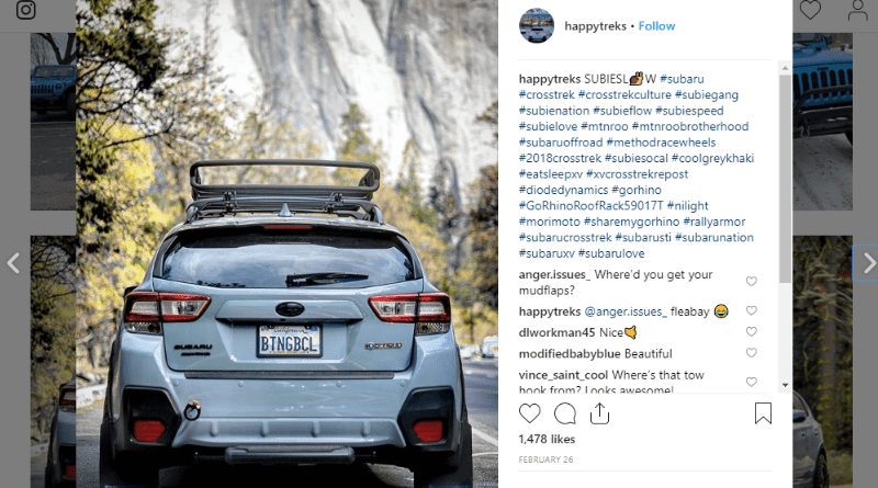 The Subaru Crosstrek makes an awesome adventure rig, especially topped with a Go Rhino roof rack.