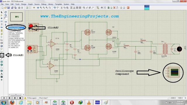 How To Use Oscilloscope in Proteus ISIS, proteus oscilloscope,oscilloscope in proteus, oscilloscope use in proteus