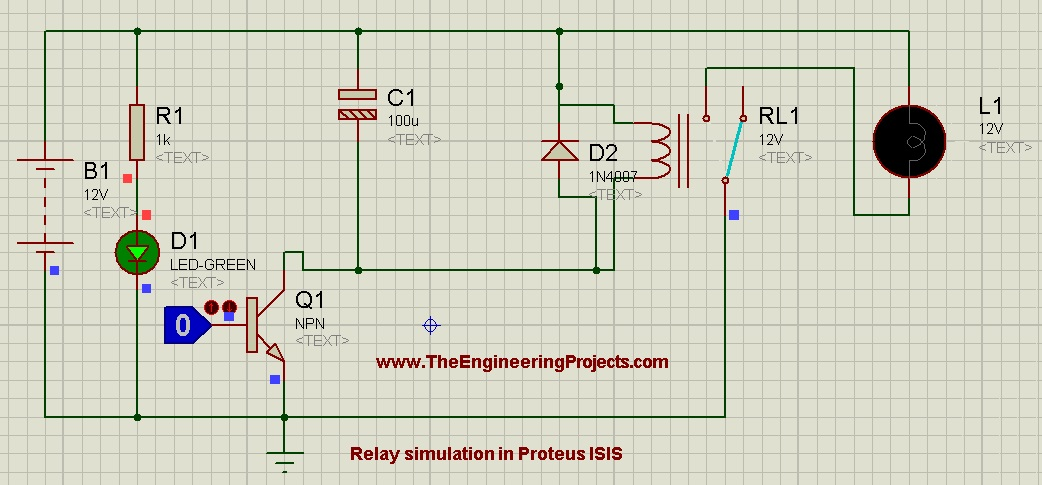 How To Control Relay In Proteus Isis The Engineering