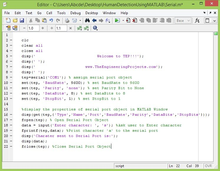 serial port matlab code, com port in matlab, send data to matlab,com port matlab,data sending com port in matlab, com port in matlab
