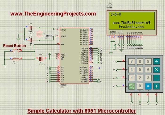 design calculator with 8051 microcontroller,calculator with 8051, calculator design 8051,8051 calculator