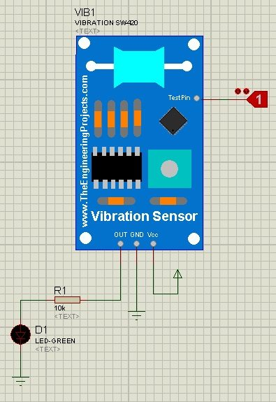 vibration sensor library, vibration sensor in proteus,vinration sensor for proteus, vibration sensor for proteus 8, vibration sensor simulation