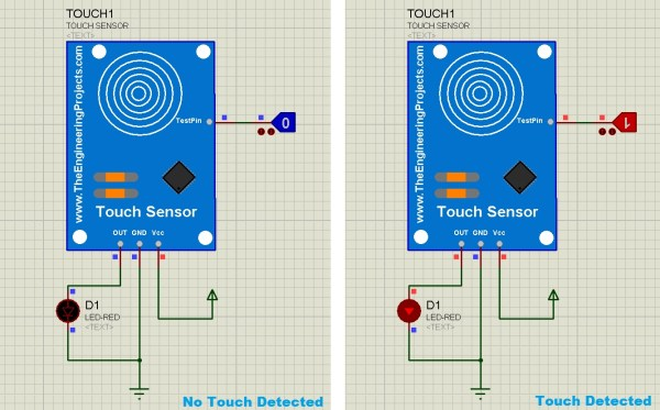 Capacitive Touch Sensor Library for Proteus, touch sensor for proteus, touch sensor in proteus, proteus touch sensor