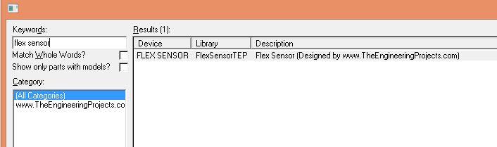 Flex Sensor Library for Proteus, flex sensor proteus, flex sensor in proteus