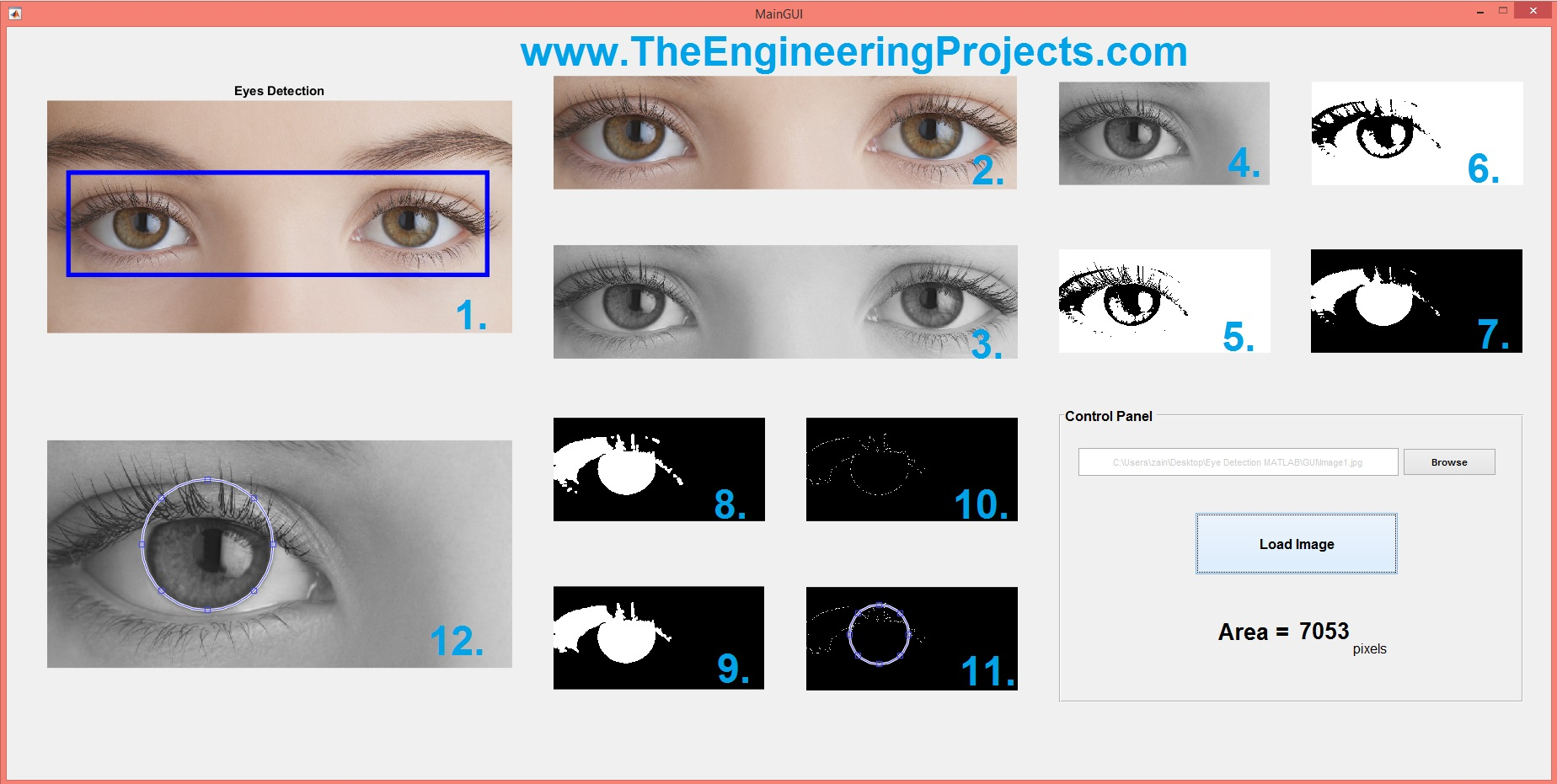 Eye Ball Detection In Matlab Eye Ball Detection In Matlab The Engineering  Projects How Can I