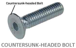 counter sunk headed bolt