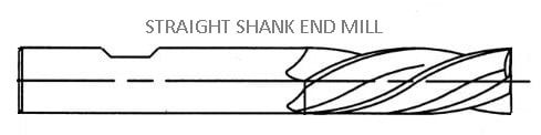straight shank end mill