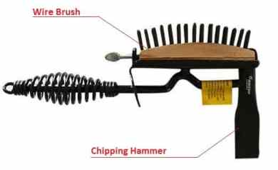 Chipping Hammer and Wire Brush