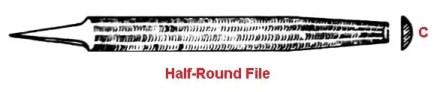 Types of file tool- Half-round file