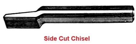 Side cut chisel