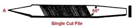 Types of file tools - Single cut file