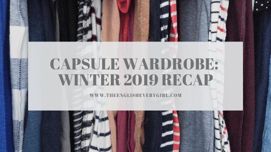 capsule wardrobe winter 2019 recap