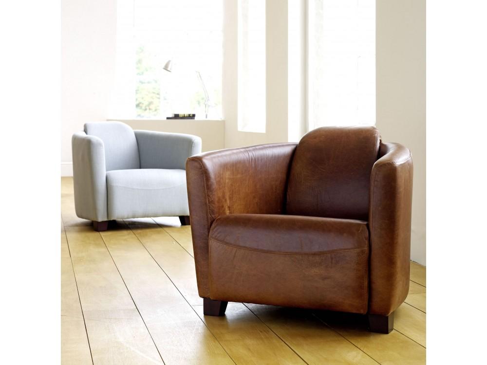 Leather Tub Chair Hudson The English Sofa Company