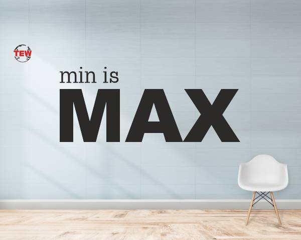 Board written on Min Is Max - Minimalist design