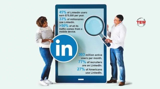 two people or jobseeker or recruiter searching on Linkedin