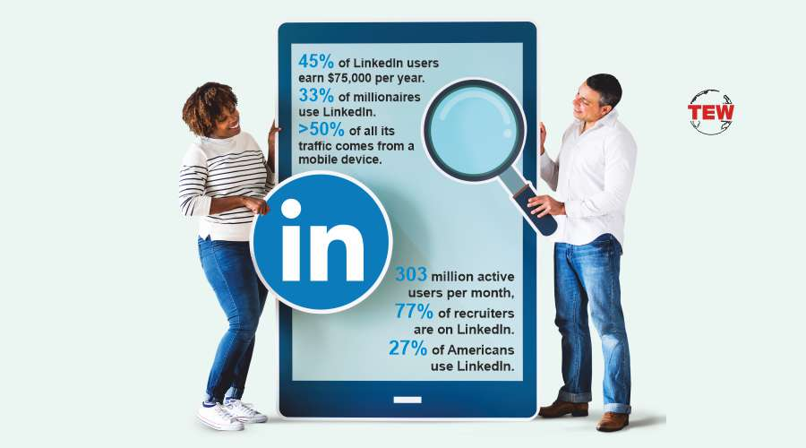 two people or jobseeker or recruiter searching on Linkedin
