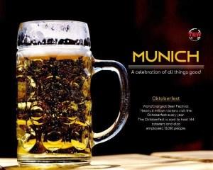 In image Beer Mug, oktoberfest in Munich city - Bavaria, germany