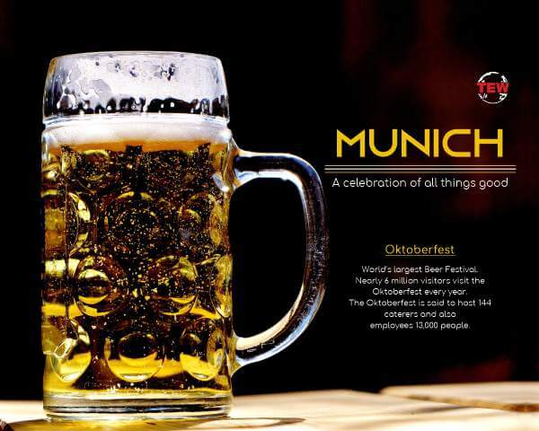In image Beer Mug, oktoberfest in Munich city - Bavaria, germany