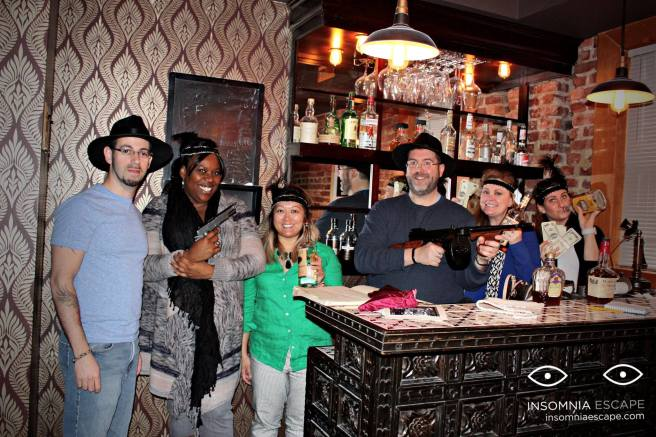 Team Disturbed Friends (Jason, Stephanie, Mike, Chris and Jess) conquered Cosa Rostra at Insomnia Escape DC. Photo courtesy of Insomnia Escape DC's Facebook page.