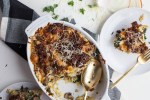 The Eternal Hostess | Gruyere and Maple Sausage Strata | Basically a savory french toast that is the perfectly filling centerpiece to any brunch. My favorite dish for Christmas Brunch!