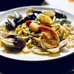 seafood spaghetti bianca