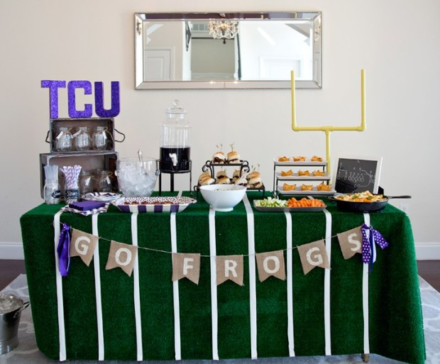 Football Game Watching Party Tablescape