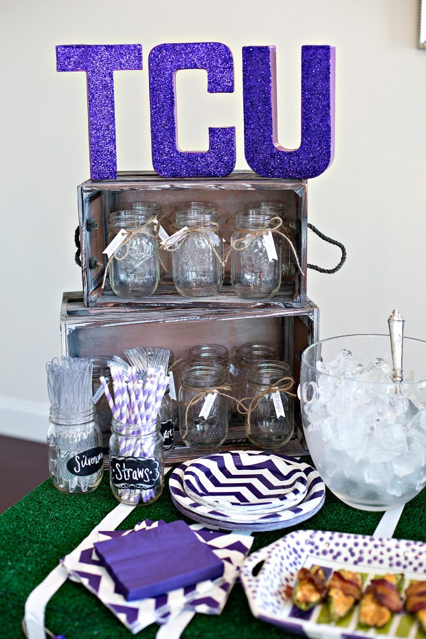 Game Watching Party TCU Letters