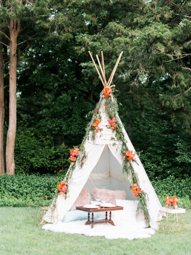 gold dust vintage teepee