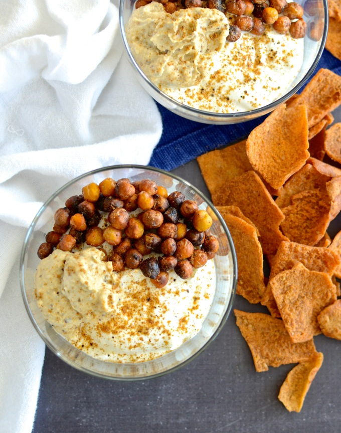 Chickpea Yogurt Protein Bowl on www.mybottomlessboyfriend.com - perfect post-workout or post-anything snack (or meal)!