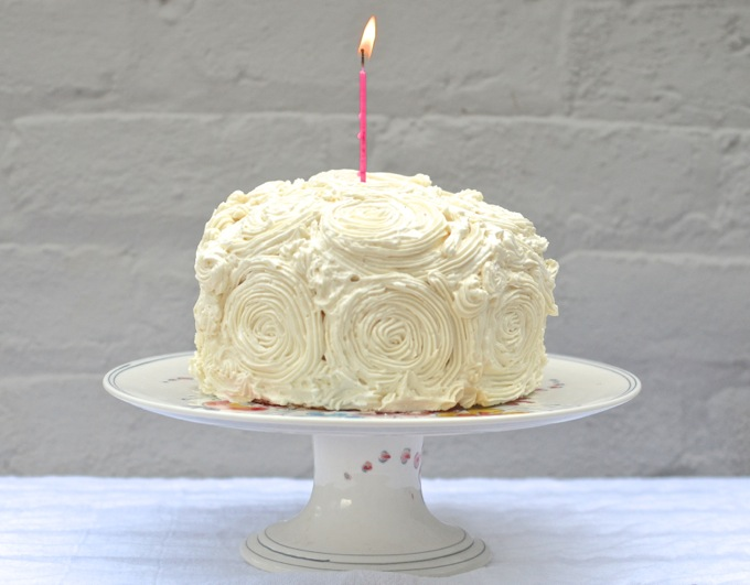 A Raspberry Greek Yogurt Cake with Lemon Buttercream to celebrate a very Happy 1st Birthday to www.mybottomlessboyfriend.com
