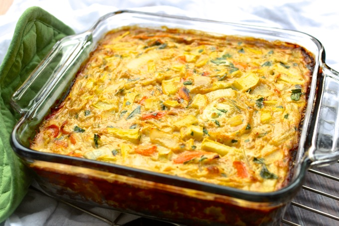 Half-Egg-White Frittata with Roasted Summer Vegetables and Smoked Paprika | www.mybottomlessboyfriend.com