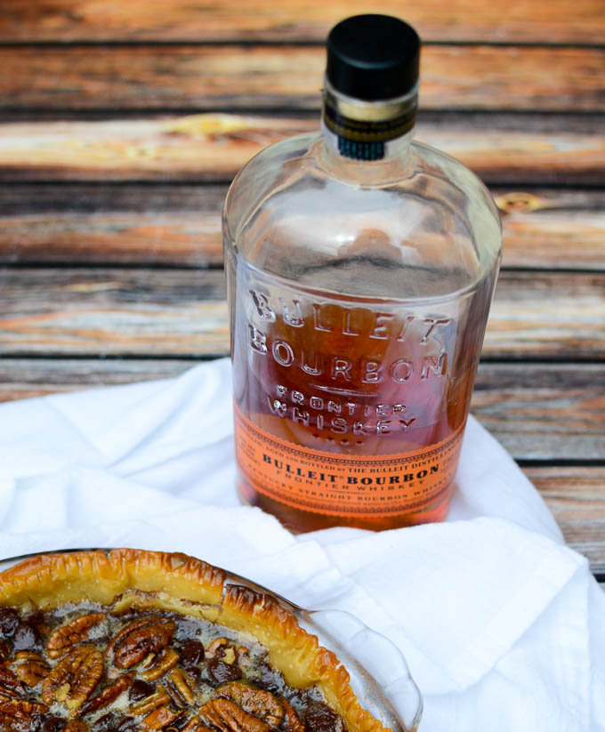 Bulleit Bourbon - only the best for this Dark Chocolate Bourbon Pecan Pie | www.mybottomlessboyfriend.com