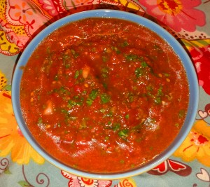 zesty homemade salsa
