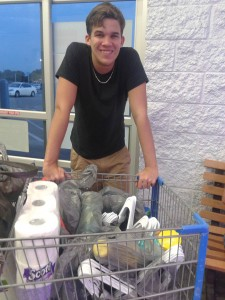 Empty Nest - Buying supplies for his dorm room.