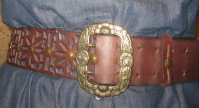 denim shirt dress - leather belt