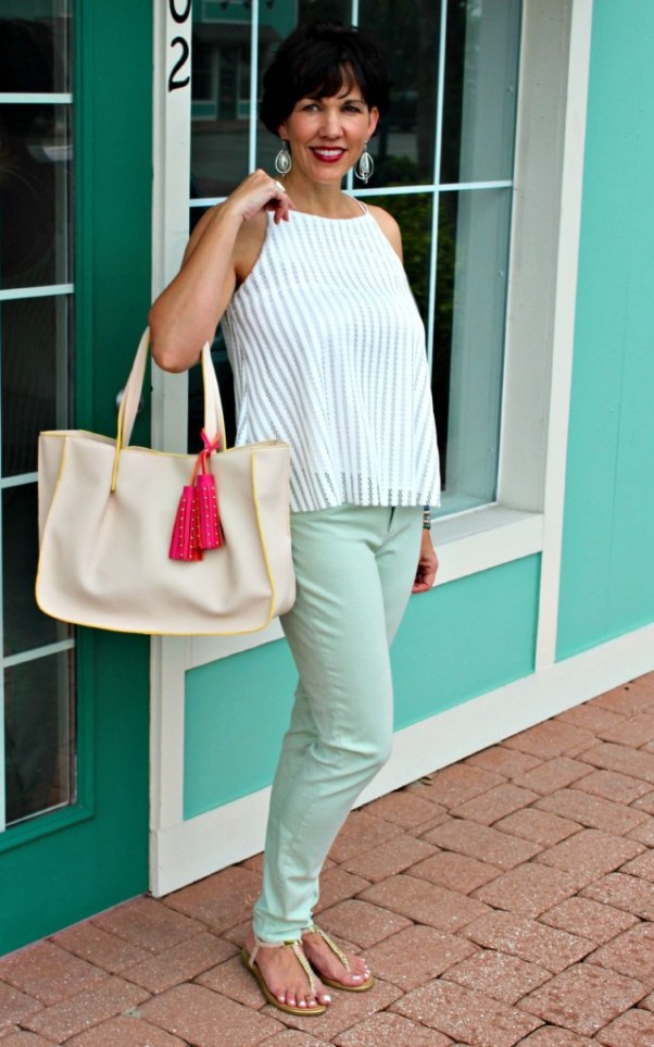 Minty Cool Jeans and a Breezy Top