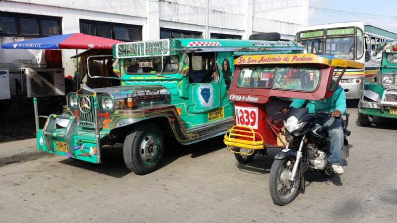 Image - Jeepneys and Tricycles