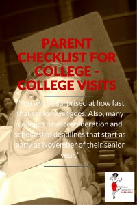 Pinterest: Parent Checklist For College - College Visits