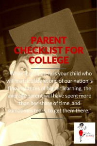 Parent Checklist For College - Junior Year