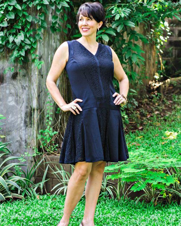 Vintage Inspired Black Dress.fashion over 40