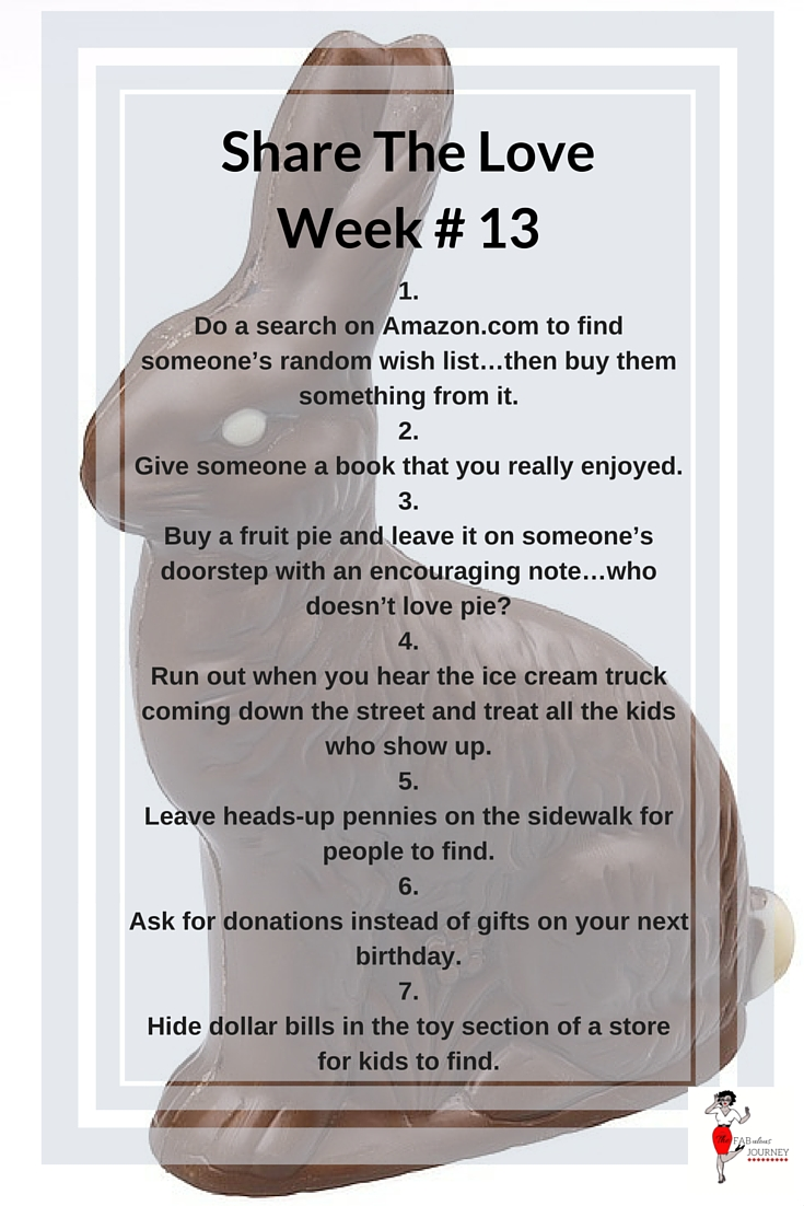 Share the love, Week #13