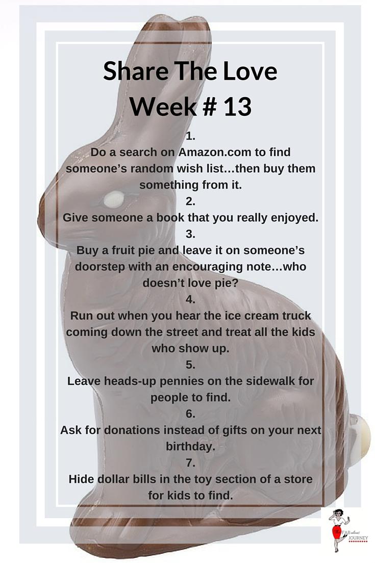 Share the love, Week #13