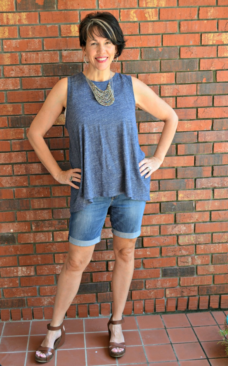 jean shorts for a casual summer look