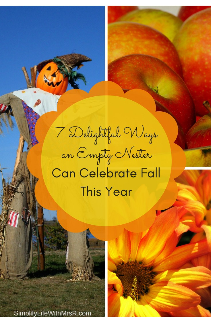 ways an empty nester can celebrate fall