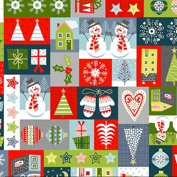 montage blocks of Christmas scenes