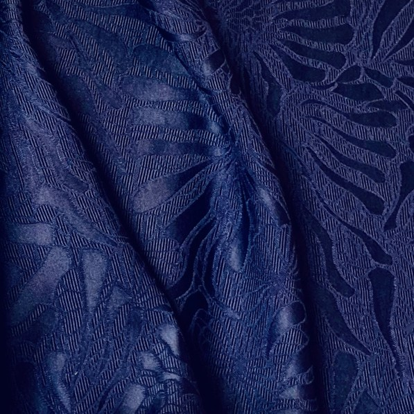 draped blue viscose